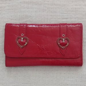 XOXO Accessories Red Patent Vegan Leather Wallet
